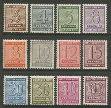 RUSSIAN ZONE. 1945. Numeral Definitive Set. SG: RD5/16. Mint Never Hinged.