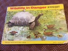 Brooke Bond picture cards. Wildlife in Danger. Complete album but cover damaged