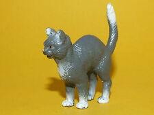 21) Schleich Schleichtier Katze grau mit Buckel 13015