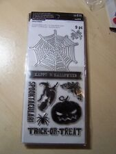 RECOLLECTIONS - HALLOWEEN - CLEAR STAMPS & DIE SET - TRICK OR TREAT - 9 PIECES