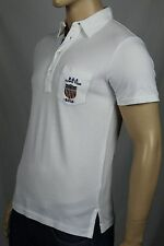 Ralph Lauren Medium M White Custom Fit USA Olympic Polo Shirt NWT