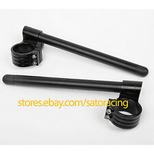 51mm For KAWASAKI ZX6R 2009-2010 CNC Raised Higher Clip Ons Fork Handle Bars