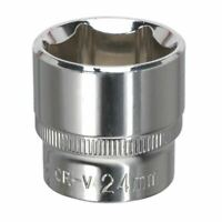 "Sealey SP3824 WallDrive? Socket 24mm 3/8""Sq Drive Fully Polished"