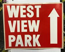 West View Amusement Park Pittsburgh, PA Adhesive Vinyl Sign 8.5