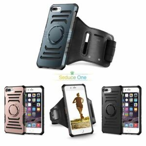 For iPhone 7Plus Sports Running Jogging Gym Detachable Armband Case &Glass Cover
