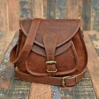 Women Vintage Leather Messenger Boho Cross Body Bag Handmade Purse Hobo Tote Bag