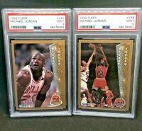 1992 Fleer 246 and 238 Michael Jordan (MINT) PSA 9 lot