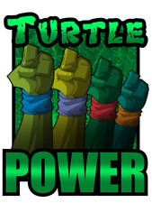 Teenage Mutant Ninja Turtles Turtle Power Iron On Tee T-Shirt Transfer A5