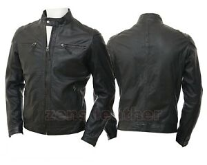 BRAND NEW ORIGINAL zens MENS REAL LEATHER JACKET WITH ALL sizes