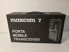 Vintage Maxcom 7 Porta Mobile 40 Channel Transceiver & Accessories - Works