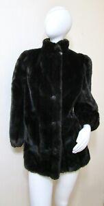 Vintage 60s Zhivago Faux Mink Fur Tissavel Coat S M 39