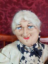 "Vintage/Antique Ravca Stockinette/Cloth Rare Nurse Doll & Baby Large 18"" Sitting"