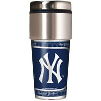 MLB New York Yankees 360 Wrap Travel Tumbler Coffee Mug Cup