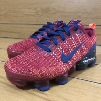 Nike Vapormax Flyknit 3 GS Noble Red/Blue BQ5238-602 size 5Y/Womens 6.5