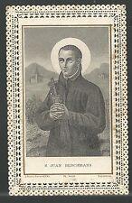Estampa Puntilla Canivet de San Juan Berchmans andachtsbild santino holy card