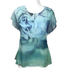 Style & Co Womens 2 Piece Blue Floral Print Top Detachable Camisole Size XS