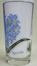 Hyacinths Peanut Butter Glass Glasses Drinking Kitchen Mauzy 63-1