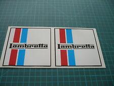 Lambretta  (Pair) Scooter stickers 100mm