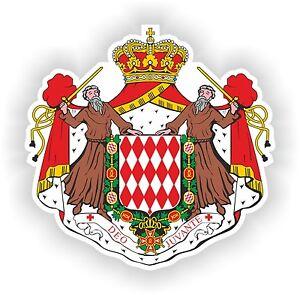Monaco Coat Of Arms Sticker Bumper stickers decals Helmet Motorcycle Laptop Car