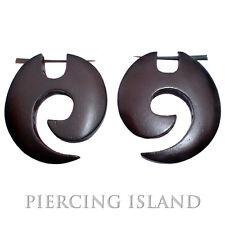 Ohrringe Goa Creolen Holz Schmuck Piercing Design ER053