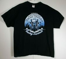 Harley Davidson T-Shirt Round Rock Operation Blue Santa Central TX Size XL Black