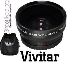 Vivitar Pro .43X Wide Angle Lens w/ Macro 37mm threading (Black)