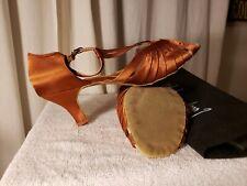 """Beautiful"" Dance shoes women's low heels copper color 9.5"