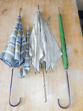vintage LOT 3 ancien PARAPLUIE alt Regenschirm OLD umbrella NAIL EUROP