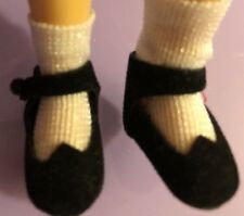 Betsy McCall 8� Doll Tonner Black Velvet Shoes And White Socks Lot