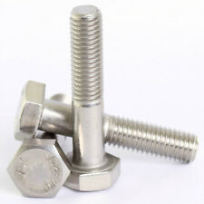 HEXAGON HEAD BOLTS PART THREADED HEX BOLT M6 M8 M10 M12 A2 STAINLESS STEEL