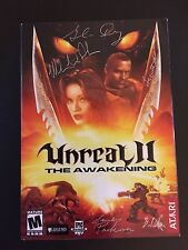 Unreal 2, PC, COLLECTOR'S ITEM, new in box, signed by entire LEGEND dev team