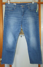 GAP Real Straight Jeans Women's 33 Cropped Laguna Blue