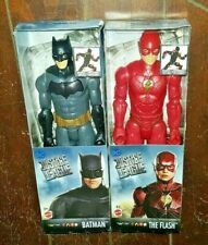 2 New DC Justice League: THE FLASH & BATMAN Posable Action Figures!