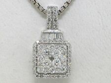 Diamant Brillant Anhänger Weißgold total 0,50ct Brillanten und Baguettediamanten