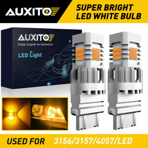 AUXITO 3157 3057 4057 LED Amber Turn Signal Light Bulb No Hyper Flash Canbus EXD