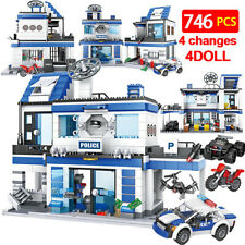 Building Blocks 746PCS City Police Station SWAT Assemble Bricks free shipping