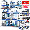 Building Blocks 746PCS City Police Station SWAT Assemble Bricks free shipping