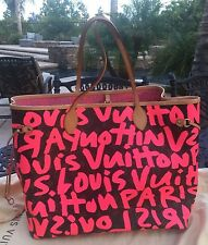 LOUIS VUITTON PINK GRAFFITI  MONOGRAM CANVAS NEVERFULL GM