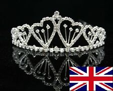 Wedding Bridal Bridesmaid Flower Girls LOVE crystal tiara crown / headband 008