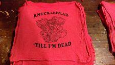 Harley Davidson Knucklehead shop rag