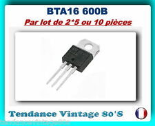 *** LOT DE 2*5 OU 10  BTA16-600B - TRIAC 16A/600 V TO220 ***