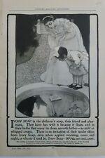 1902 Ivory soap Pond reflection little girl Elizabeth shippen green art ad
