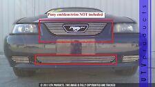 GTG 1999 - 2004 Ford Mustang V6 and GT 2PC Polished Overlay Billet Grille Kit