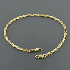 10K YELLOW GOLD 2.3MM UNIQUE DE VINCI ROPE CHAIN 7.5 INCH BRACELET FREE SHIPPING