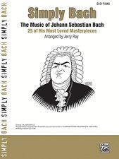 """SIMPLY BACH-THE MUSIC OF JOHANN SEBASTIAN BACH"" EASY PIANO MUSIC BOOK-NEW-SALE!"
