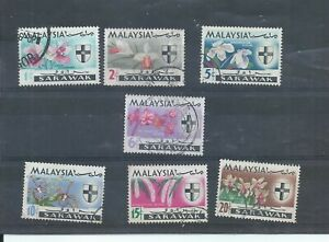 Sarawak stamps  1968 Flowers set used. (P026)