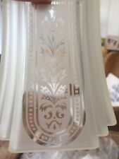 Vintage Etched Glass Lightshades X 4