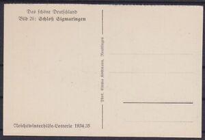 DR P 254 / 26 * Ganzsache Sigmaringen, GA Lotterie 1934 / 1935