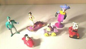 Vintage Lot Fast Food Happy Meal Toys 6 piece Flintstones, Aladdin, Riddler