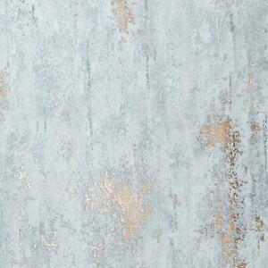 Stone Concrete Industrial Wallpaper Paste The Wall Dark Grey Metallic Copper
